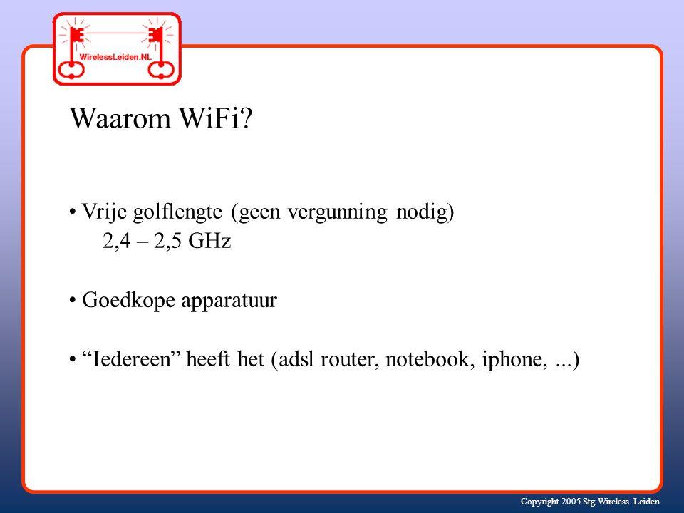 Copyright 2005 Stg Wireless Leiden Ad hoc wifi netwerk