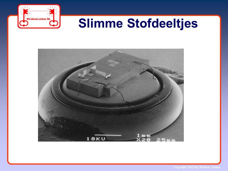 Copyright 2003 Stg Wireless Leiden Slimme Stofdeeltjes