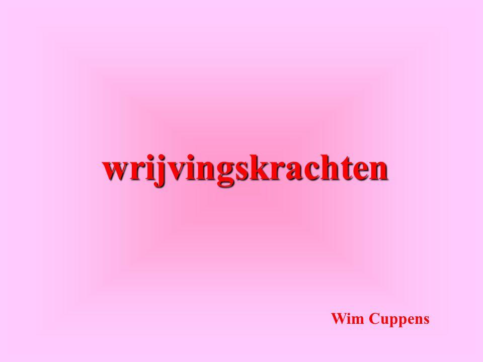 wrijvingskrachten Wim Cuppens