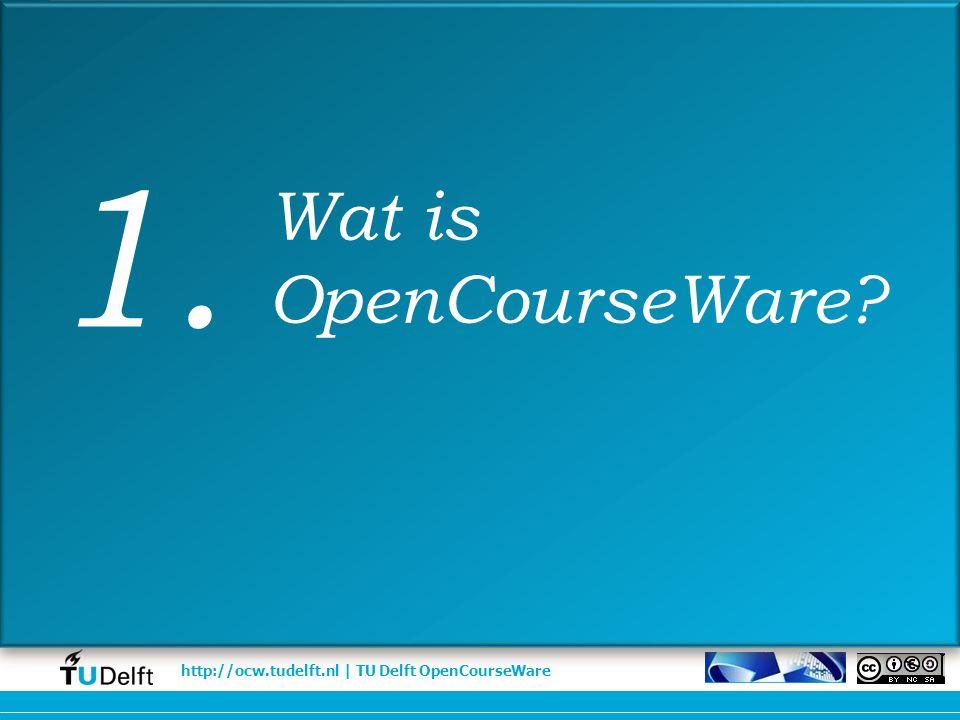 http://ocw.tudelft.nl | TU Delft OpenCourseWare Vak wordt geschrapt uit curriculum Lage studentenaantallen Met pensioen: onderwijs blijft beschikbaar Duurzaamheid Duurzaamheid Onderwijs EWI Dr.