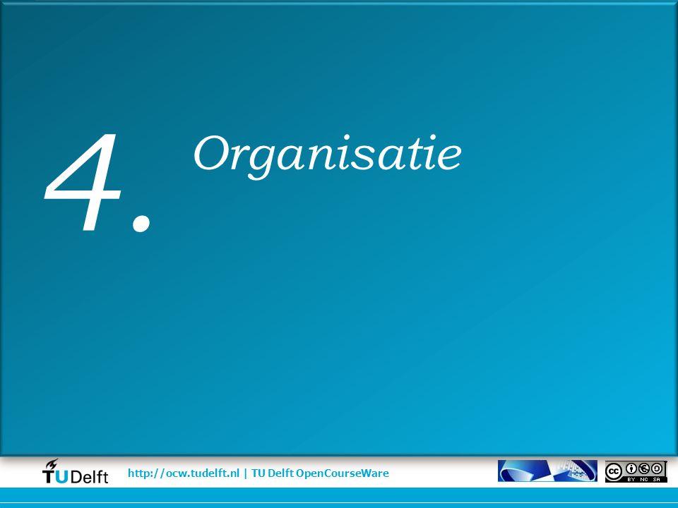 http://ocw.tudelft.nl | TU Delft OpenCourseWare Organisatie 4.