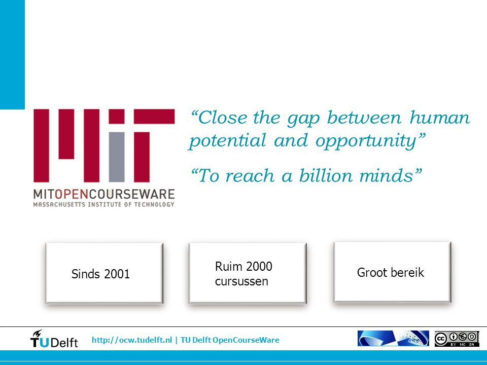 http://ocw.tudelft.nl | TU Delft OpenCourseWare Meer internationale studenten en PhD's Meer studenten & PhD's Juiste student op de juiste plaats Watermanagement Dr.