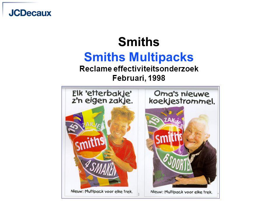 Smiths Smiths Multipacks Reclame effectiviteitsonderzoek Februari, 1998