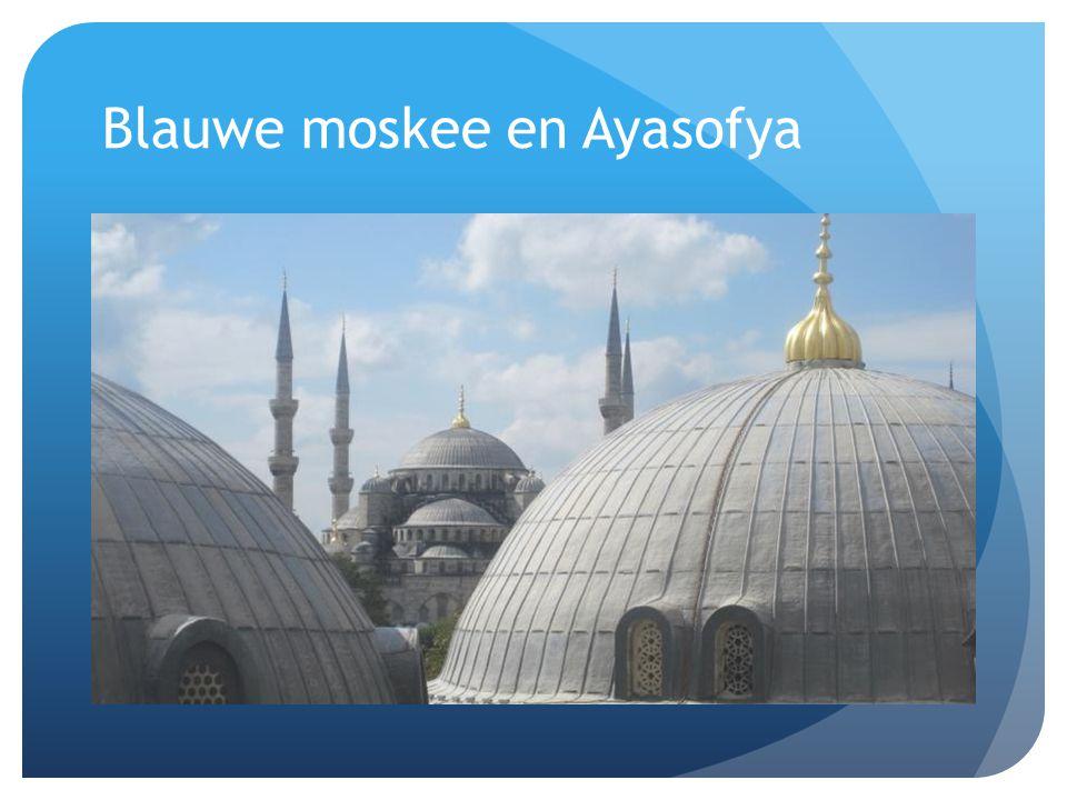 Blauwe moskee en Ayasofya