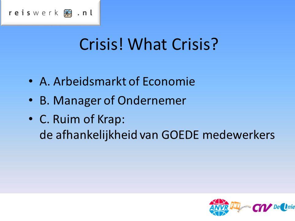Crisis. What Crisis. A. Arbeidsmarkt of Economie B.