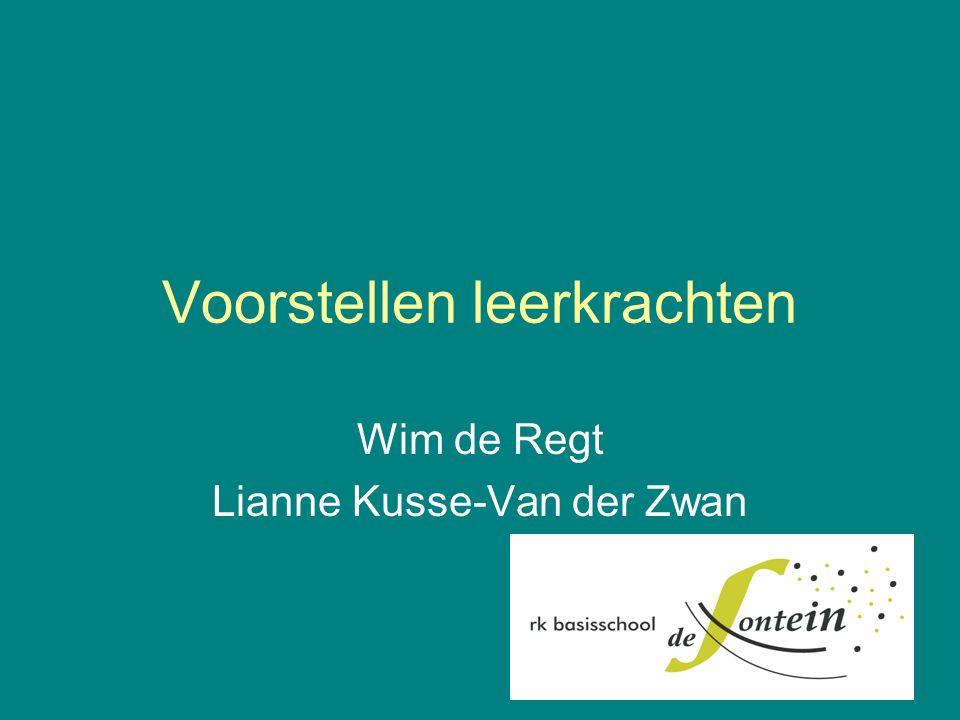Voorstellen leerkrachten Wim de Regt Lianne Kusse-Van der Zwan