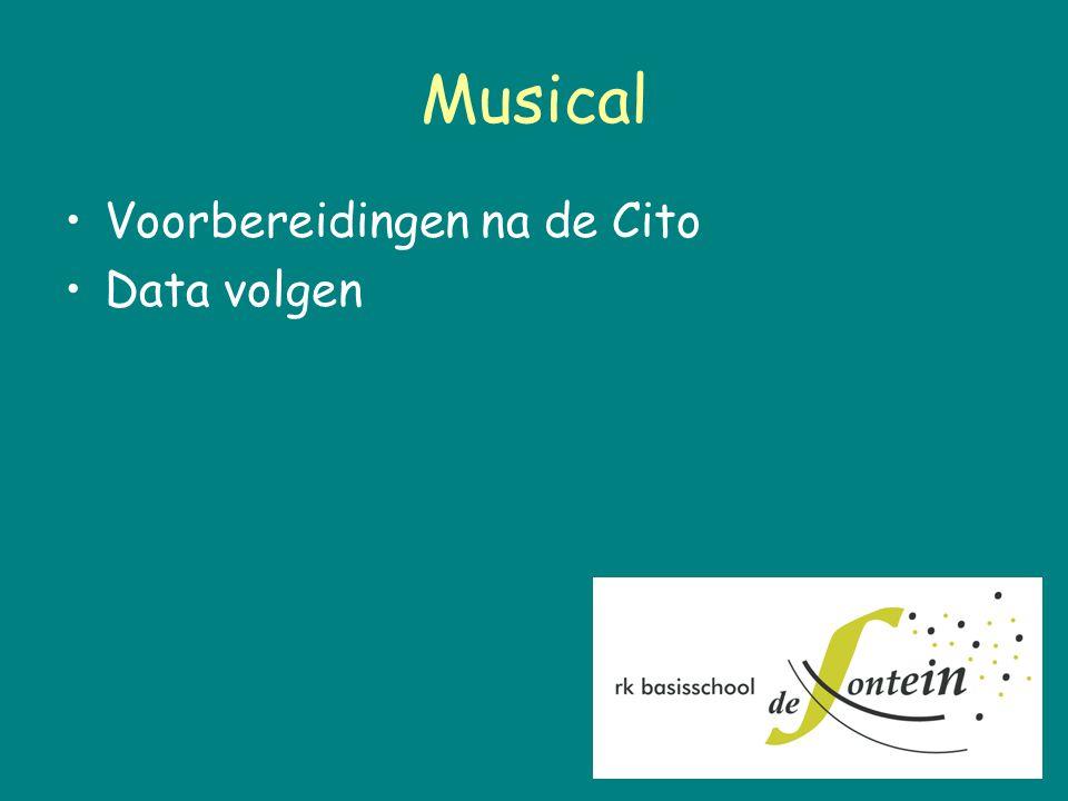 Musical Voorbereidingen na de Cito Data volgen