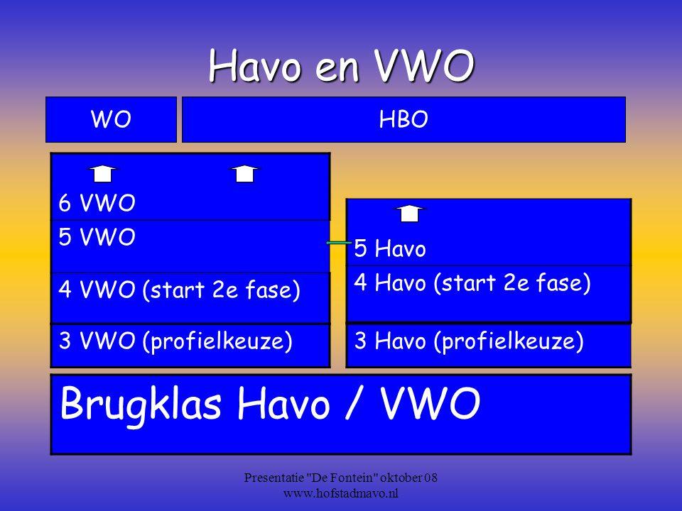 De Profielen Economie en Maatschappij Cultuur en Maatschappij Natuur en Techniek Natuur en Gezondheid Presentatie De Fontein oktober 08 www.hofstadmavo.nl