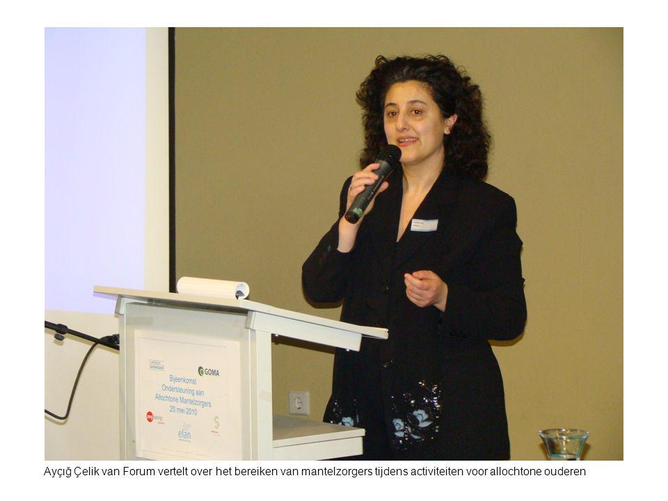 Ayçιğ Çelik van Forum vertelt over het bereiken van mantelzorgers tijdens activiteiten voor allochtone ouderen