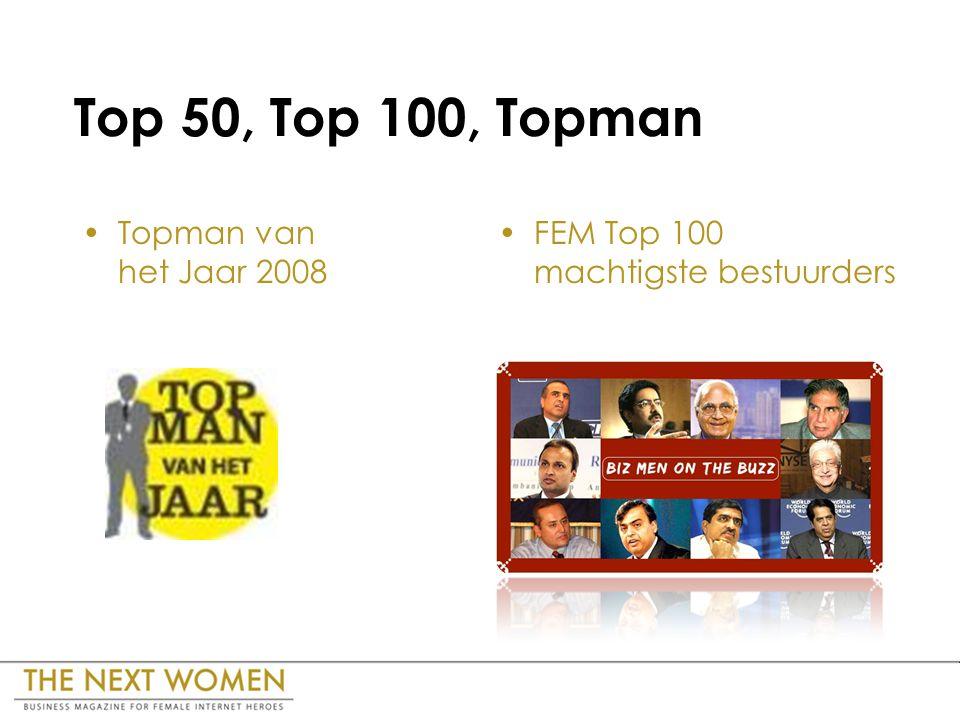 Top 50, Top 100, Topman Topman van het Jaar 2008 FEM Top 100 machtigste bestuurders