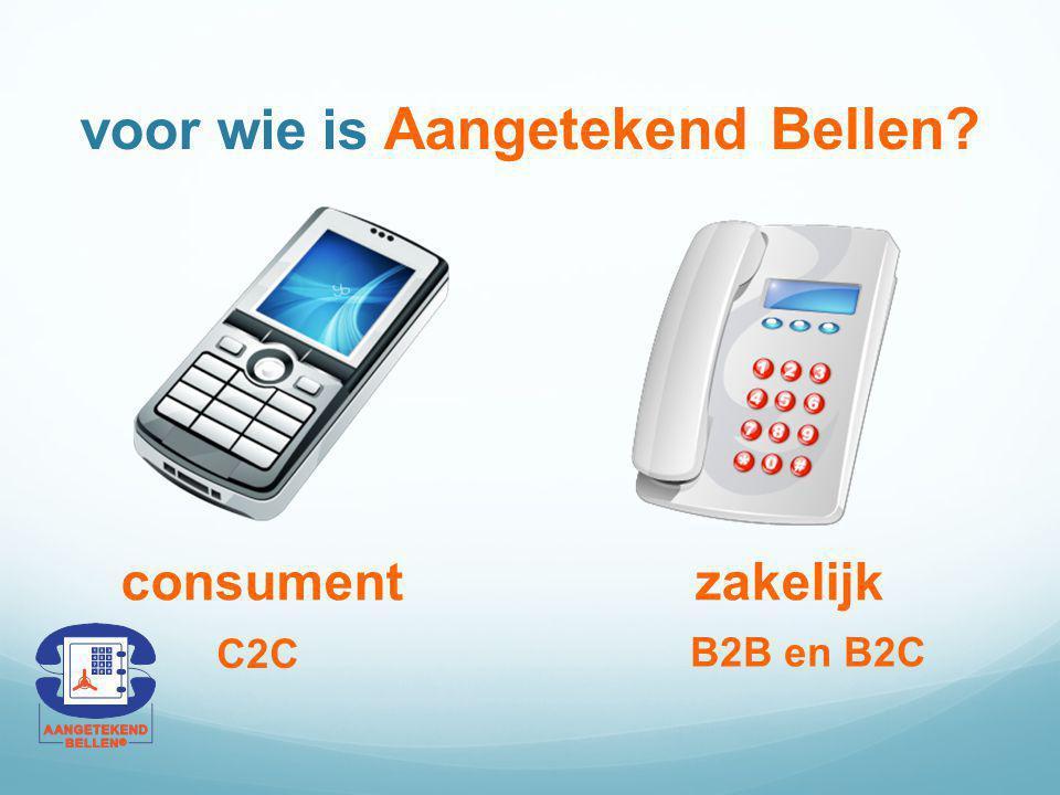 voor wie is Aangetekend Bellen? consumentzakelijk C2C B2B en B2C