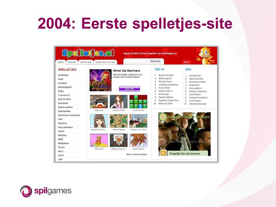 2004: Eerste spelletjes-site