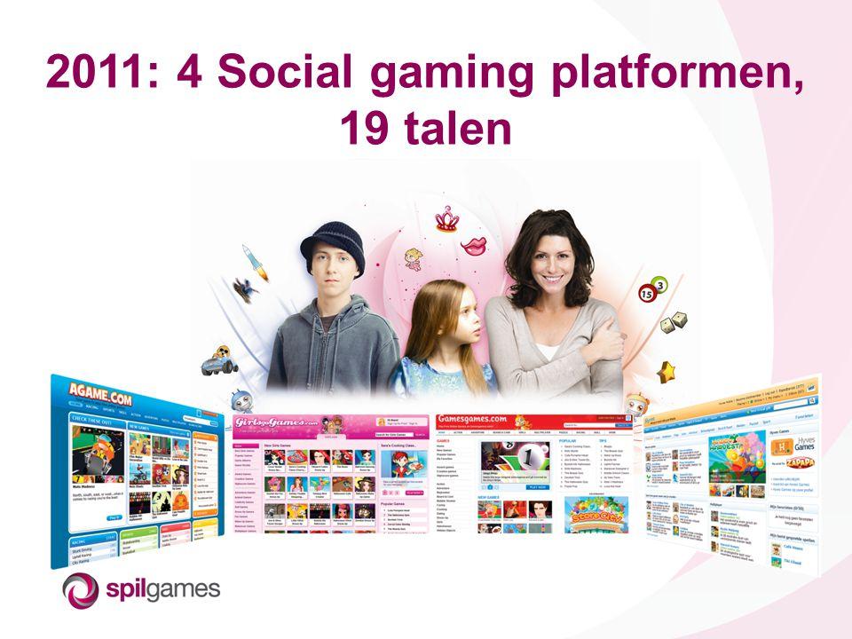 © SPIL GAMES 2011: 4 Social gaming platformen, 19 talen
