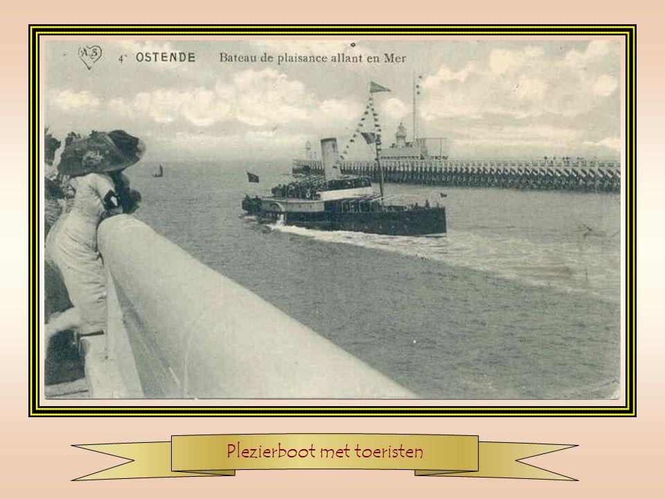Aankomst van een radermaalboot