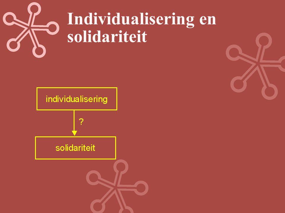 Individualisering en solidariteit