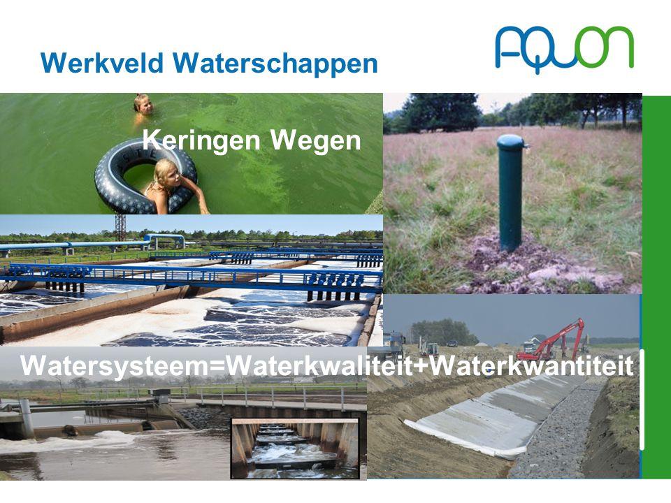Werkveld Waterschappen Keringen Wegen Watersysteem=Waterkwaliteit+Waterkwantiteit