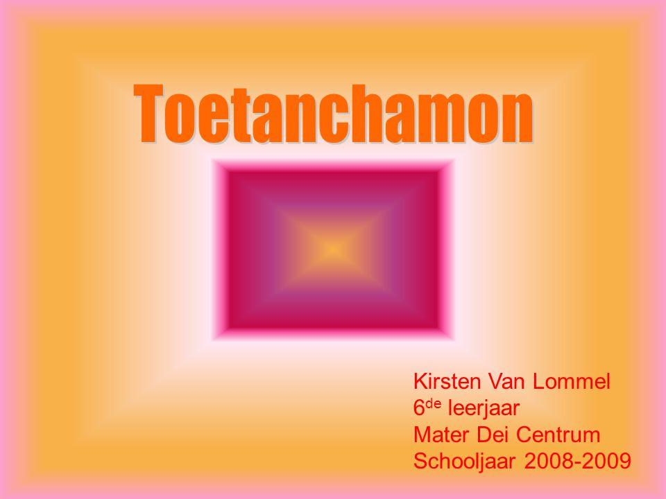 Kirsten Van Lommel 6 de leerjaar Mater Dei Centrum Schooljaar 2008-2009