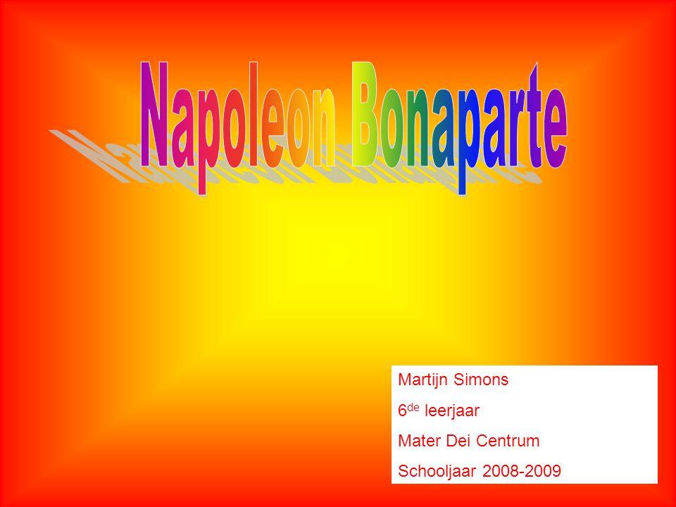 Martijn Simons 6 de leerjaar Mater Dei Centrum Schooljaar 2008-2009