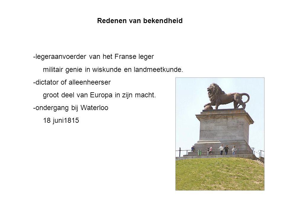 Redenen van bekendheid -legeraanvoerder van het Franse leger militair genie in wiskunde en landmeetkunde.