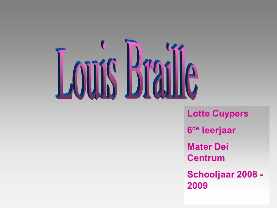 Lotte Cuypers 6 de leerjaar Mater Dei Centrum Schooljaar 2008 - 2009