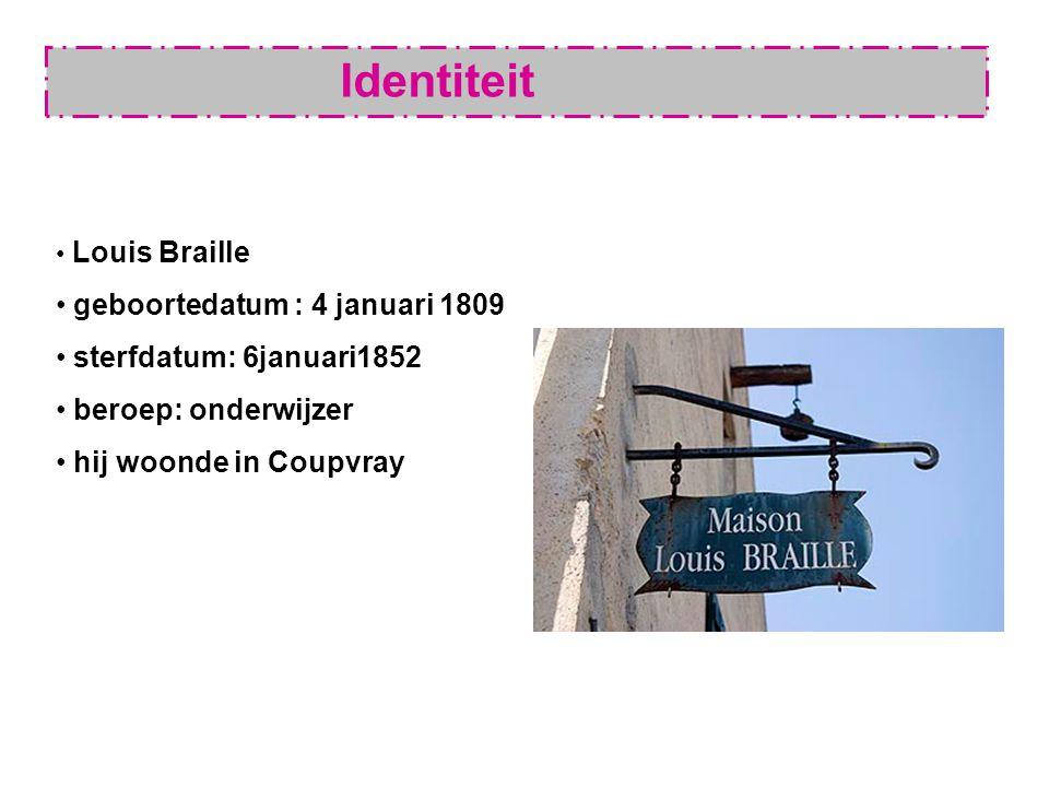 Identiteit geboortedatum : 4 januari 1809 sterfdatum: 6januari1852 beroep: onderwijzer hij woonde in Coupvray