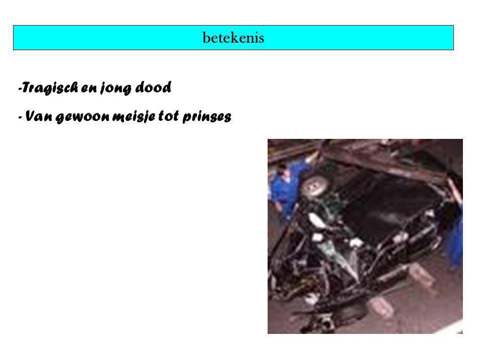 betekenis -Tragisch en jong dood - Van gewoon meisje tot prinses