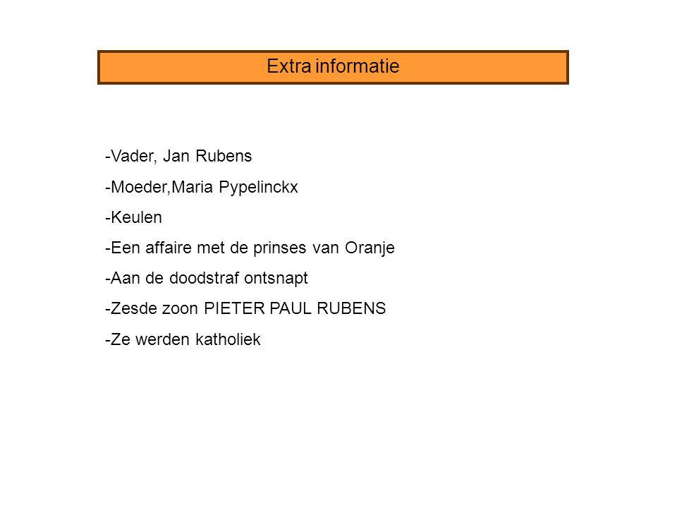 Extra informatie -Vader, Jan Rubens -Moeder,Maria Pypelinckx -Keulen -Een affaire met de prinses van Oranje -Aan de doodstraf ontsnapt -Zesde zoon PIE