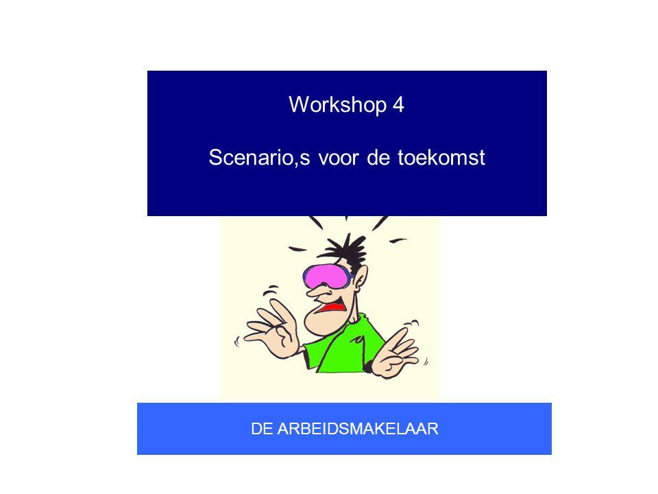 Workshop 4 Scenario,s voor de toekomst DE ARBEIDSMAKELAAR