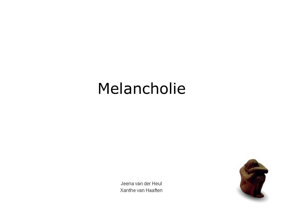 Melancholie Jeena van der Heul Xanthe van Haaften