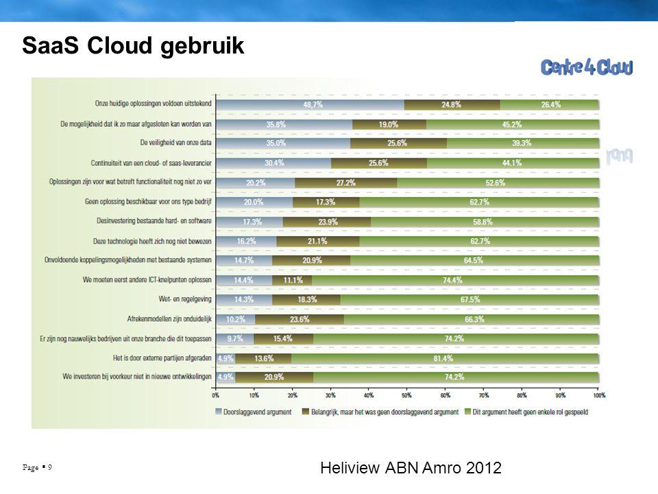 Page  10 SaaS Cloud gebruik Heliview ABN Amro 2012