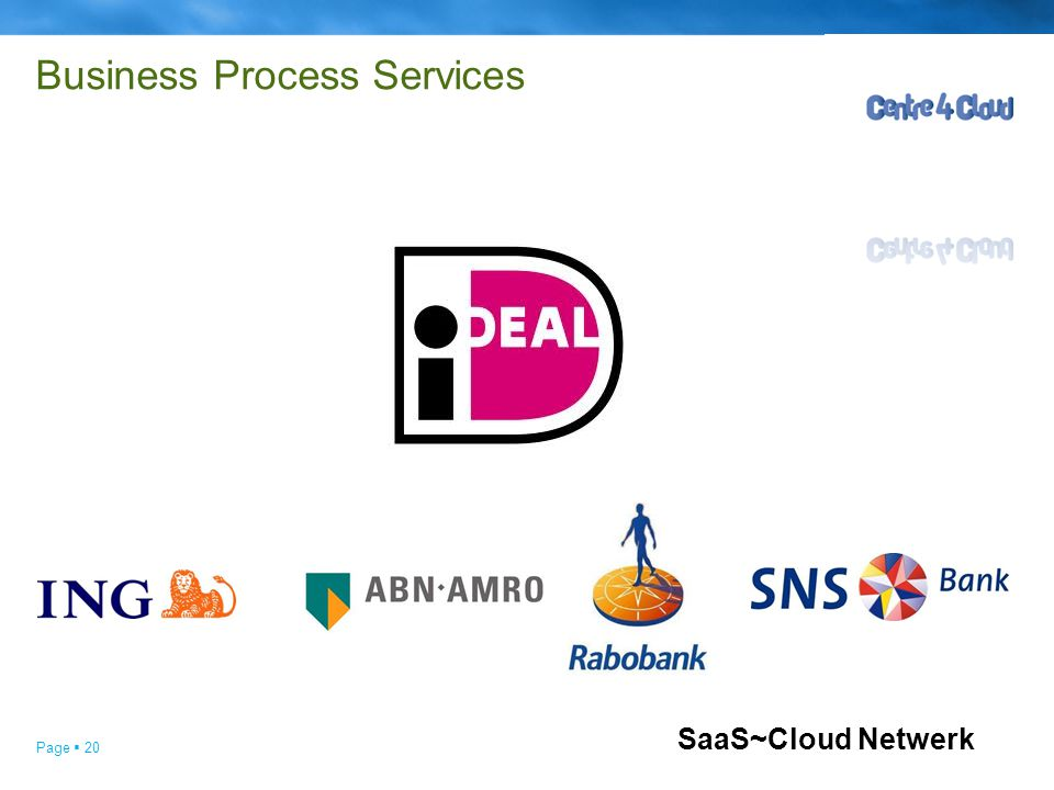 Page  20 Business Process Services SaaS~Cloud Netwerk