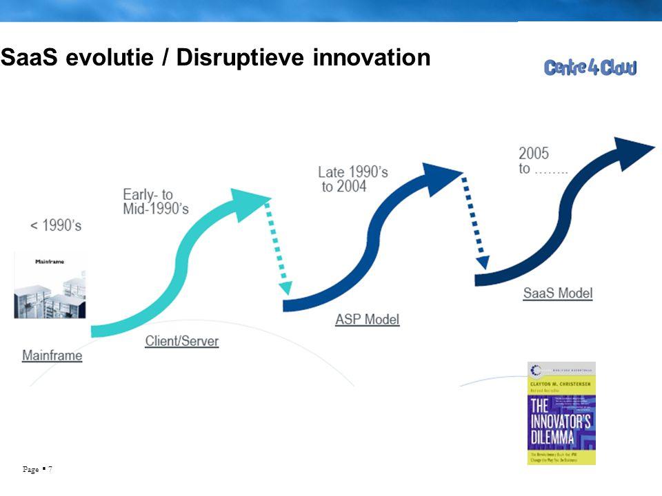 Page  7 SaaS evolutie / Disruptieve innovation