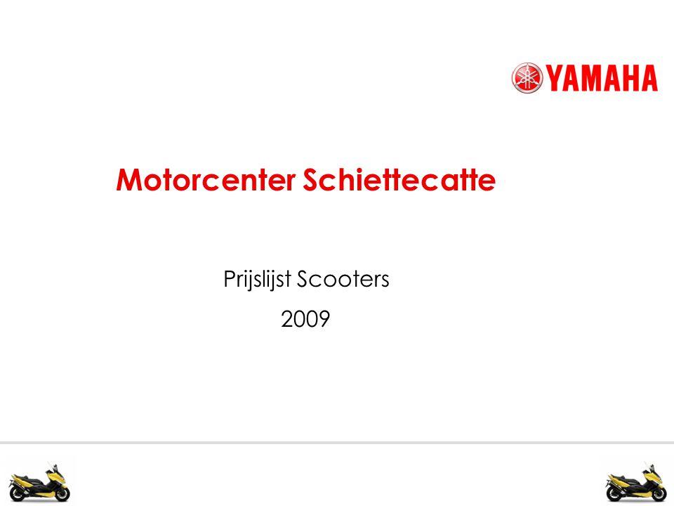 Motorcenter Schiettecatte Prijslijst Scooters 2009