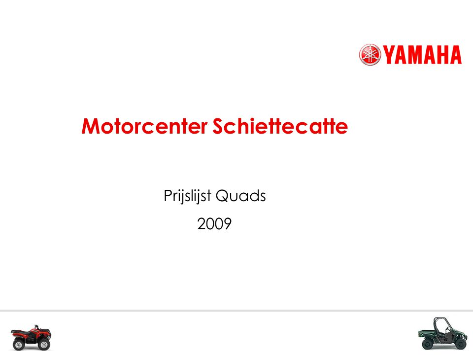 Motorcenter Schiettecatte Prijslijst Quads 2009