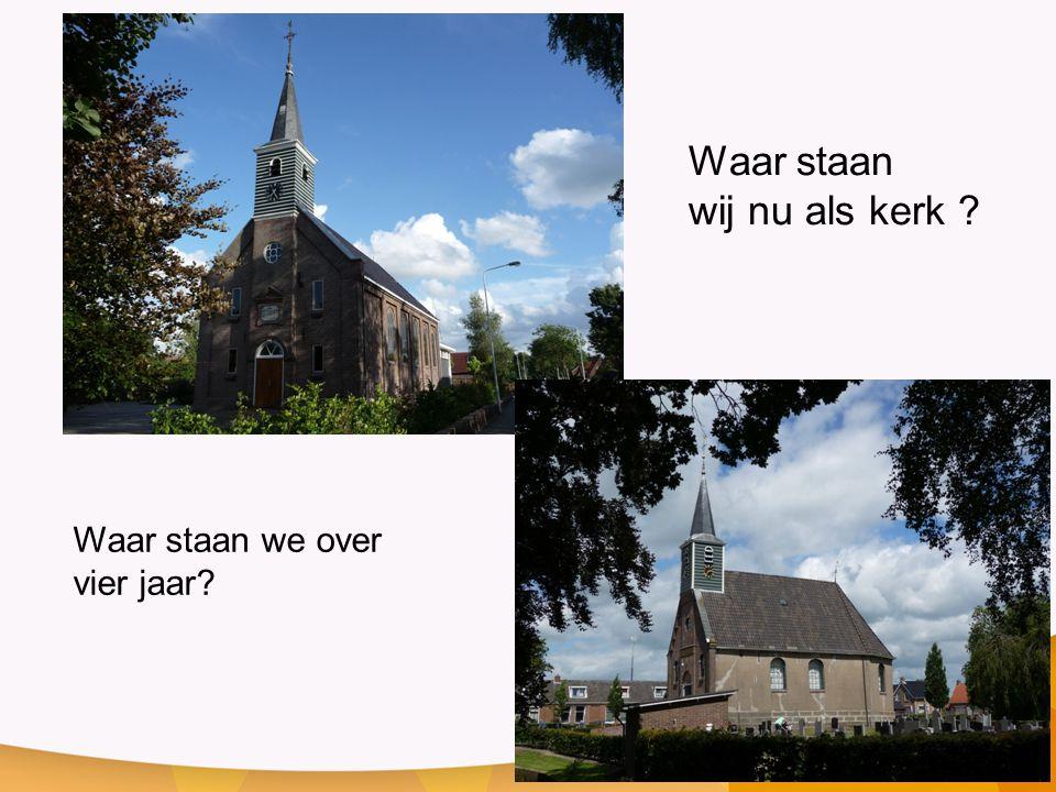 Waar staan wij nu als kerk ? Waar staan we over vier jaar?