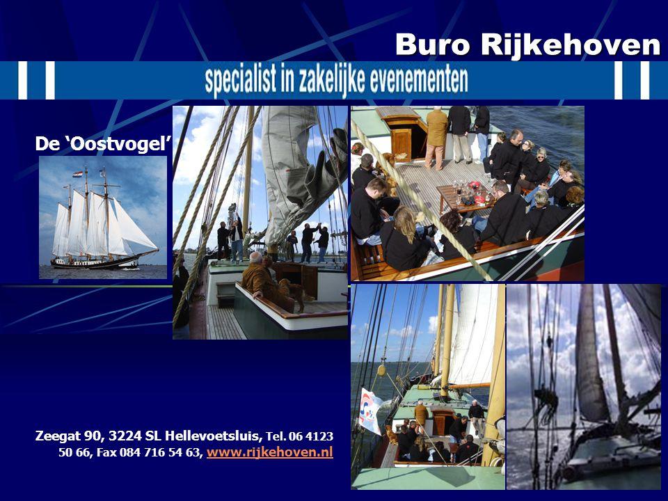 Buro Rijkehoven Zeegat 90, 3224 SL Hellevoetsluis, Tel. 06 4123 50 66, Fax 084 716 54 63, www.rijkehoven.nl www.rijkehoven.nl De 'Oostvogel'