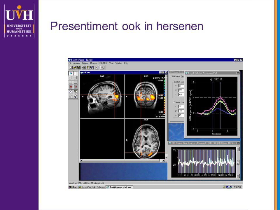 Presentiment ook in hersenen