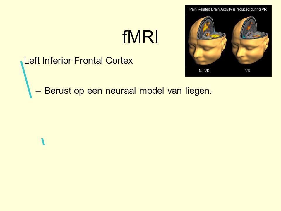 fMRI –Berust op een neuraal model van liegen.
