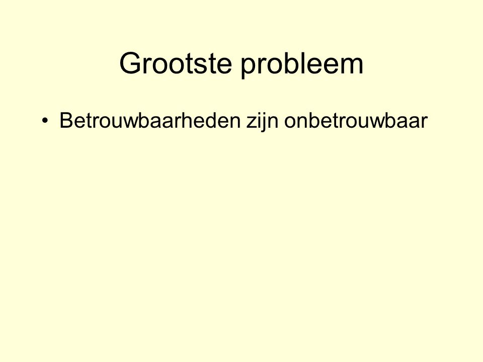 Grootste probleem Betrouwbaarheden zijn onbetrouwbaar In 2003, the National Academy of Sciences (NAS) issued a report entitled The Polygraph and Lie Detection .
