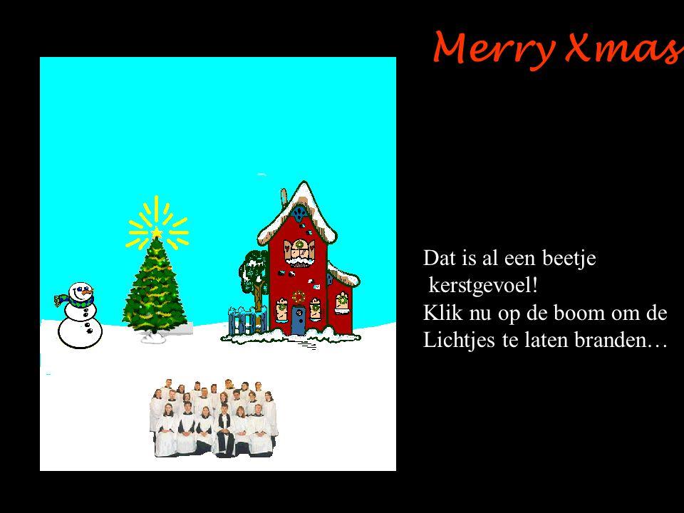 Merry Xmas Dat is al een beetje kerstgevoel! Klik nu op de boom om de Lichtjes te laten branden…
