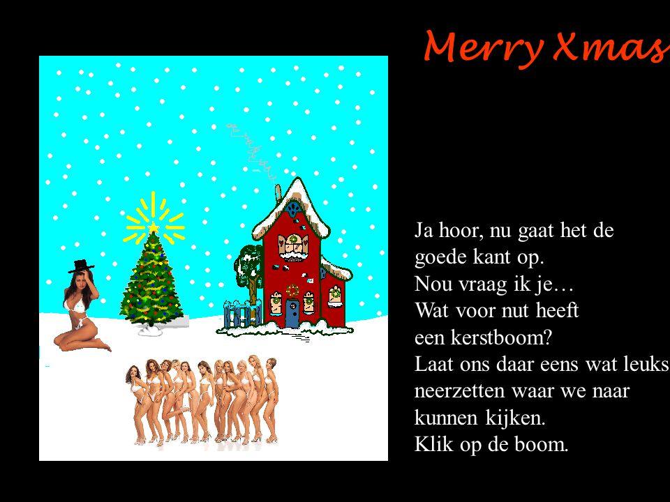 Merry Xmas Ja hoor, nu gaat het de goede kant op.