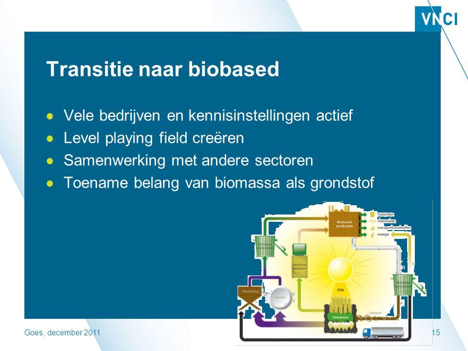 Goes, december 201116 Visie 2030 - 2050 Ontwikkeld door VNCI en Deloitte Chemie is industry of Industries Op basis van 4 scenarios t.a.v.