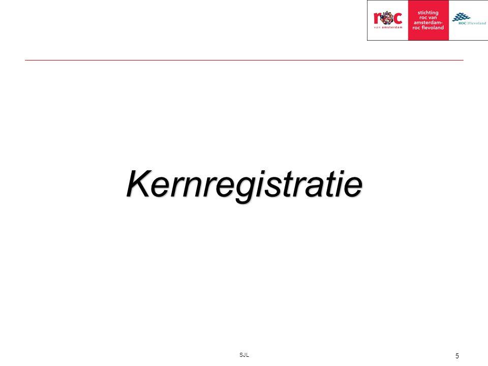 SJL 5 Kernregistratie
