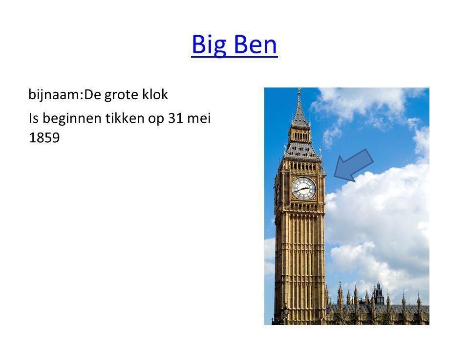 Big Ben bijnaam:De grote klok Is beginnen tikken op 31 mei 1859