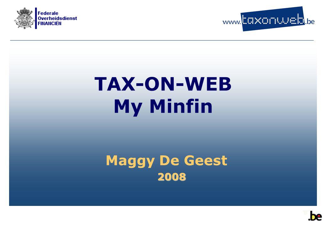 Toepassingen : Tax-on-web  Samenvatting vooraf ingevulde gegevens