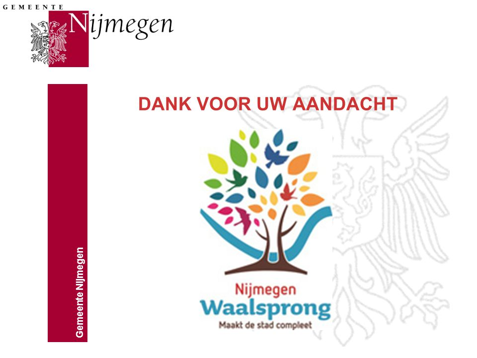 Gemeente Nijmegen DANK VOOR UW AANDACHT