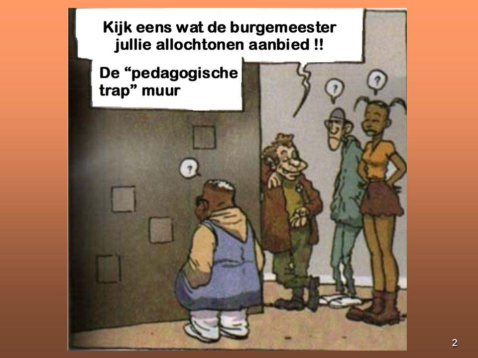 1 De pedagogische muur Om de jongeren in de stad bezig te houden !