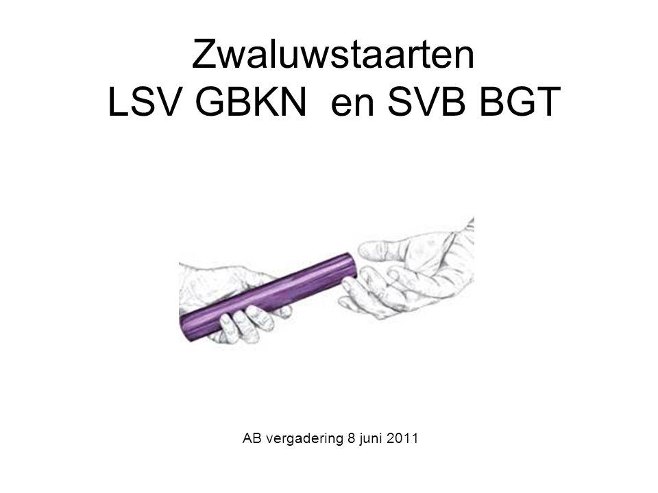 Zwaluwstaarten LSV GBKN en SVB BGT AB vergadering 8 juni 2011