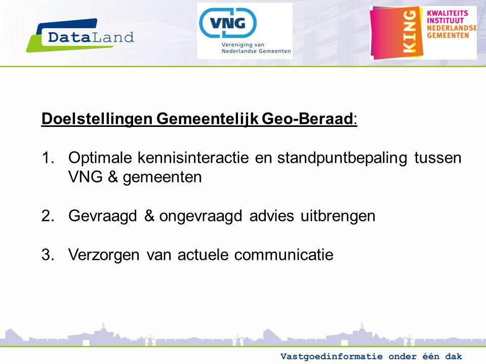 Doelstellingen Gemeentelijk Geo-Beraad: 1.
