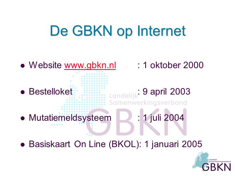 De GBKN op internet: MMS en BKOL Gebruikersmiddag Utrecht 20 april 2006 Hans van Eekelen